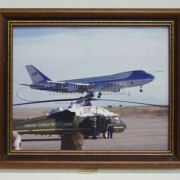 38-56 Print - Air Force One landing, framed