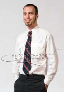 37-6 & 37-8 Pilot shirt and stripe tie