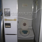14-51R Lavatory-Center, _JAL_, Hinge Rt frame - H2O - Bowl