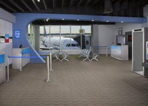 Aero Mockups Terminal with Plane